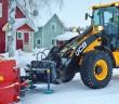 Leistungsstärke, Kompaktheit und seine Schnelligkeit machen den JCB 409 zum idealen Begleiter für den Winterdienst. (Foto: JCB)