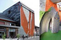 Drinnen wie draußen kommen Klettermaxe in der Volksbank-Kletterhalle Marburg voll auf ihre Kosten. Ein spezieller Boden verhindert im Falle eines Falls schwere Verletzungen. (Fotos: BSW)