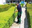 Arbeit im Gräflichen Park - mit langem Schlauch auf empfindlichen Böden (Foto: Wave Europe)