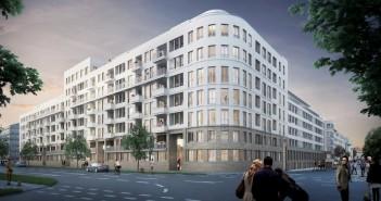 In München-Bogenhausen werden neue Eigentumswohnungen gebaut. - © Fuchshuber Architekten
