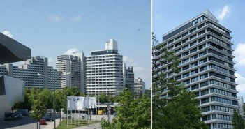 Olympiatower in München unweit der BMW-Zentrale. - © Meibes System-Technik
