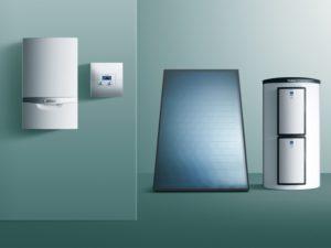 Die meisten Geräte erhalten in der Ökodesign-Richtlinie eine eigene Effizienzeinstufung. Bestimmte Systemkombinationen werten eine Anlage durch Bonuspunkte auf. - © Vaillant