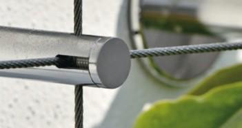 I-SYS Edelstahlseile von Carl Stahl erweitern die Grünfläche. - © Fotodesign Kissner