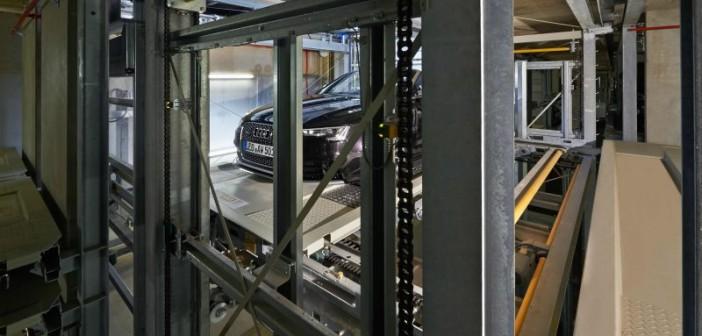Intelligentes Parken auf engstem Raum: Per Knopfdruck werden die Fahrzeuge schnell und sicher ein- und auch wieder ausgeparkt. Auf Wunsch erledigt dies auch der Concierge-Service der Wohnanlage. - © Otto Wöhr GmbH