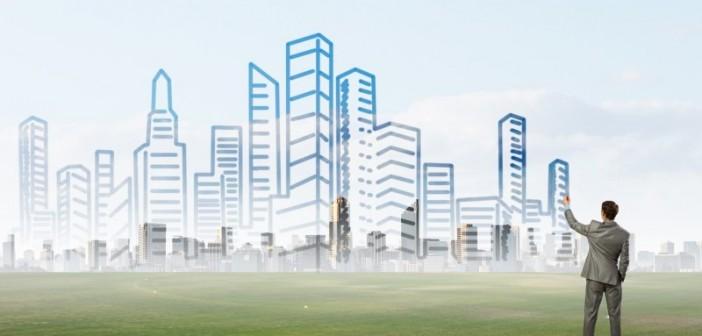 """In Städten fehlen häufig Bauflächen und Wohnraum. Eine Lösung ist Verdichtung in die Höhe"""" - © Sergey Nivens, Fotolia.de"""