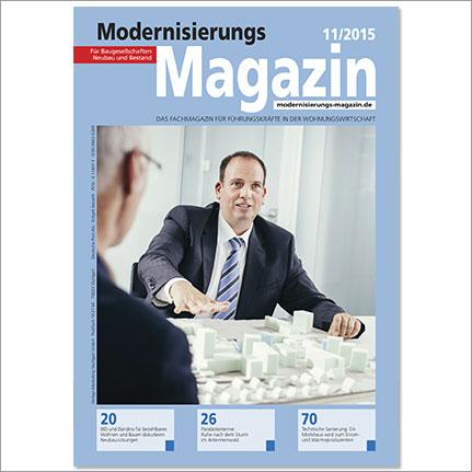 Titelseite des Modernisierungs-Magazin, Ausgabe 11/2015