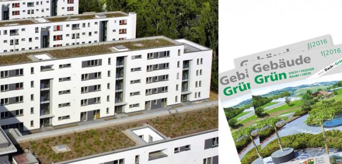 Wohnblöcke mit Dachbegrünung. - Bild: © helmutvogler, Fotolia.de