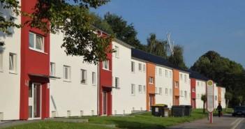 Modernisiertes Gebäude aus dem zugekauften Immobilienpaket in Dortmund-Alt-Scharnhorst. - © Foto: Vivawest