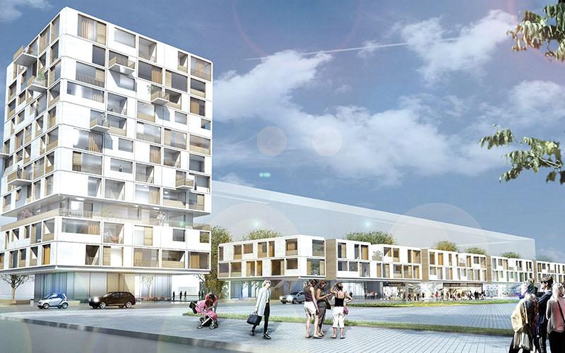 Köpenicker Straße: Der Entwurf ist ein Beispiel für Nachverdichtung im komplexen Wohnungsbau.