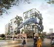 Das Eckwerk besteht aus zwölfgeschossigen Hybriden aus Wohn- und Forschungsgebäude. - Bild: © Kleihues, Berlin