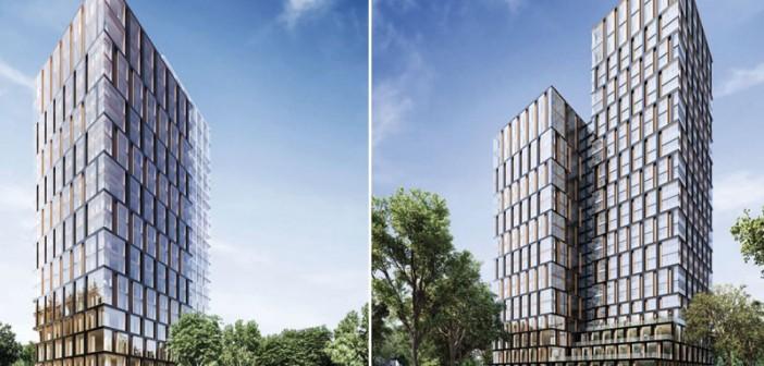 Projekt Hochhaus am Park, Frankfurt/Main, Ansicht Hotelbereich. - Foto: © Assmann beraten + planen