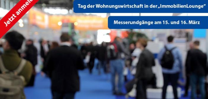 """Herzliche Einladung - Messerundgänge und """"Tag der Wohnungswirtschaft"""" auf der light+building (Frankfurt). - Hintergrundbild: © mitifoto, Fotolia.de"""
