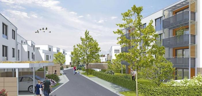 Auf dem ehemaligen ATV-Gelände an der Wallensteinstraße entstehen neue Eigentheime. - Bild: © wbg Nürnberg GmbH