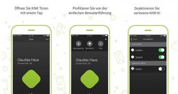 Mit einem simplen Tap auf das Display ihres iPhones oder ihrer Apple Watch entriegeln Nutzer fortan die Haustür. - Bild: © KIWI.KI GmbH