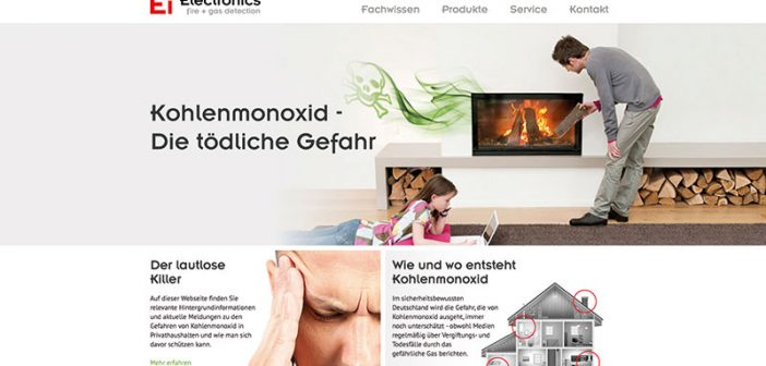 Seit Ende Juni ist die neue Webseite zu den Gefahren von Kohlenmonoxid und etwaigen Schutzmaßnahmen abrufbar.