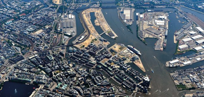 Das Areal der Hafen-City in Hamburg ist Beispiel für eine urbane Quartiersentwicklung.
