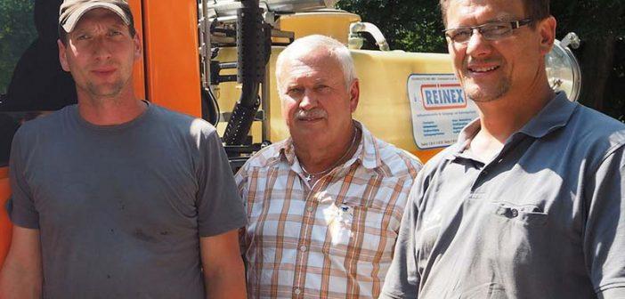 Für ein sauberes, gepflegtes Bad Reichenhall (von links): Stefan Heindel (Fahrer), Hans Willberger (Service-Center-Leiter) und Franz Maier (Vorarbeiter).