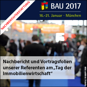 Tag der Immoblienwirtschaft auf der BAU 2017