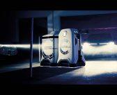 Mobiler Roboter laden Elektroautos